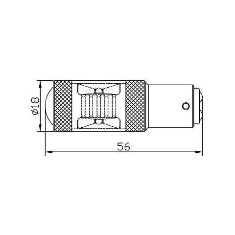LED лампа тормоза UP-7G-1157HWB-30W(BAY15D) (белая, 12-24 В) Превью 1