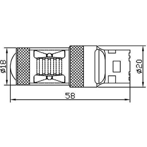 LED лампа тормоза UP-7G-T20DWB-30W(7443) (белая, 12-24 В) Превью 2