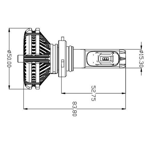 Набір світлодіодного головного світла UP-X3HL-9005W(HB3) (6000 лм) Прев'ю 1