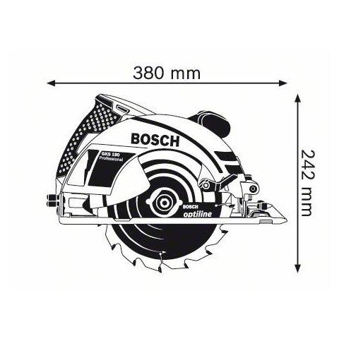 Ручна дискова пилка Bosch GKS 190 Professional Прев'ю 1