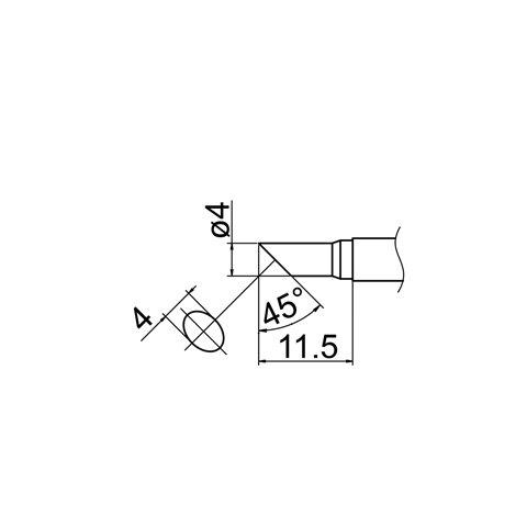Паяльне жало HAKKO T12-C4 Прев'ю 4