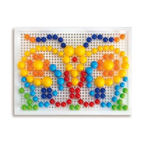 Набір для занять мозаїкою Quercetti (фішки 10/15/20 мм (160 шт.) + дошка 22×16) Прев'ю 3