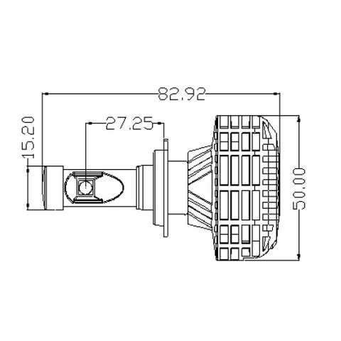 Car LED Headlamp Kit UP-6HL (H7, 3000 lm) Preview 3
