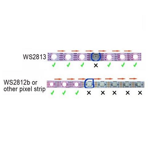 Tira de luces LED RGB SMD5050, WS2813 (negra, con controles,  IP20, 5 V, 30 LED/m, 5 m) - Vista prévia 3