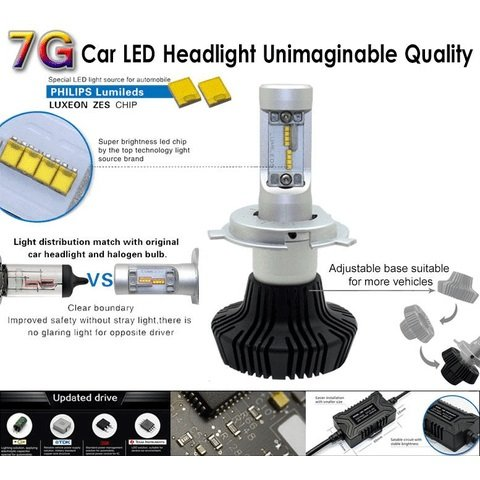 Car LED Headlamp Kit UP-7HL-881W-4000Lm (881, 4000 lm, cold white) Preview 2